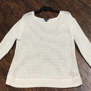 Gap Summertime Cream & Gold Mesh Sweater